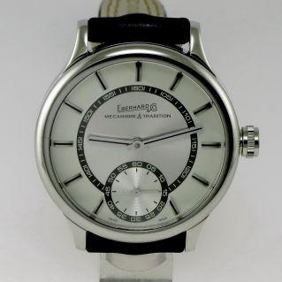 EBERHARD & CO TRAVERSETOLO - Cronograph - Steel case -Transparent Caseback