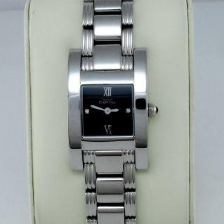 CAPITAL montre femme, Boîtier et bracelet en acier, Mouvement Quartz