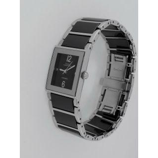 CAPITAL montre femme, Boîtier et bracelet en acier et poterie, Mouvement Quartz