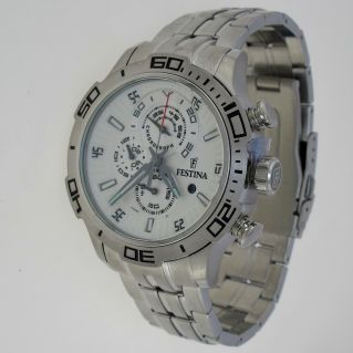 FESTINA watch - Chronograph Sub 100 mt - Quartz - Steel Hypoallergenic