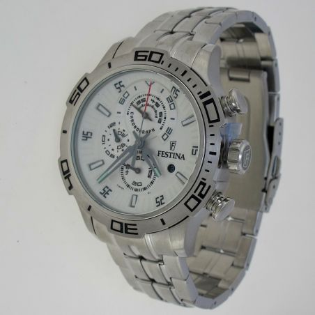 FESTINA watch - Chronograph Sub 100 mt - Quartz - Steel Hypoallergenic