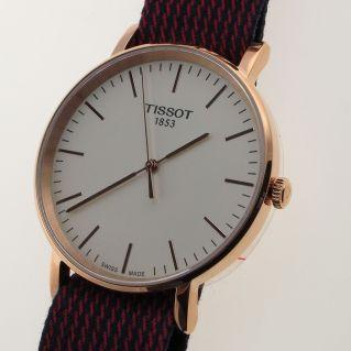 Uhr TISSOT EVERYTIME QUARTZ, PVD Rosegold , dunn 6 mm, Saphirglas