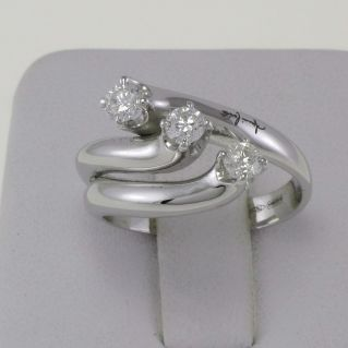 TRILOGY Ring by GIANNI CARITA' Diamonds Ct 0,45 - Col G/SI with guarantee