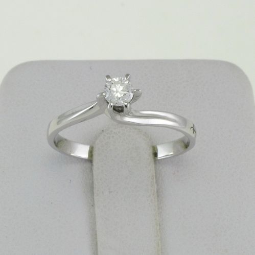 GIANNI CARITA' Solitaire diamond ring 0.19 Ct G/SI - white gold 18 Kt - Valentine