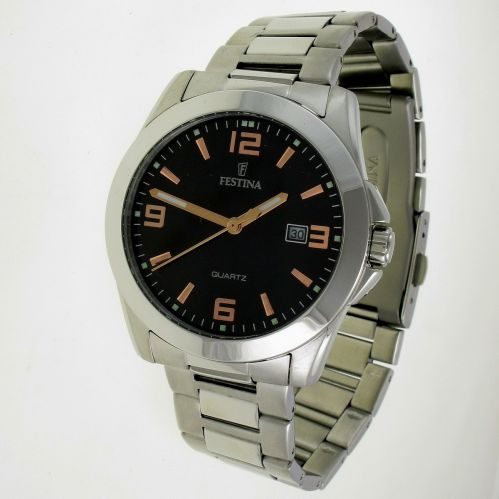 FESTINA Quartz watch - Hypoallergenic steel case and bracelet