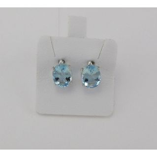 Earrings PENSIERI Natural Aquamarine Ct. 2,00 - Gold 750 ‰
