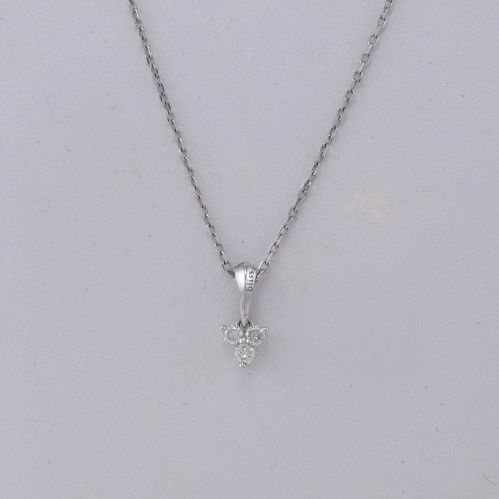 BLISS necklace with central diamonds 0.12 H/VS Ct, 18 Kt Gold