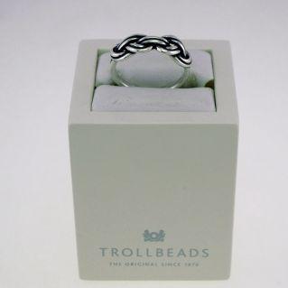 TROLLBEADS - 925 ‰ Silberring - 'Savoia Knot'