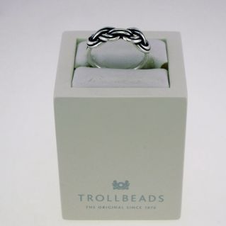 TROLLBEADS - Anillo de plata 925 ‰ - 'Nudo Savoia'