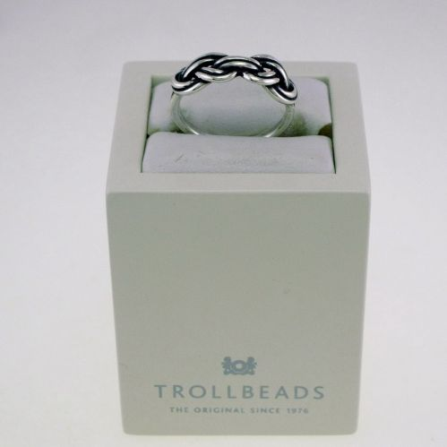 TROLLBEADS - 925 ‰ Silver Ring - 'Savoia Knot'