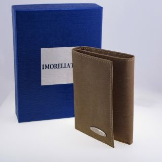 MORELLATO Wallet - driving license - credit cards, fabric and leather
