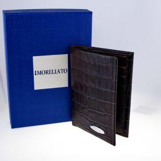 MORELLATO Portafoglio, portacarte credito, Pelle coccodrillo stampata