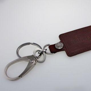 Porte-clés en cuir et acier MORELLATO