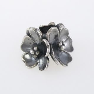 Beads Trollbeads 'Flower of Apple' - Silver Burnished