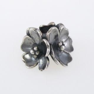 Perlas de Trollbeads 'Apple Blossoms' - Plata Bruñida