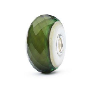 Perlas Trollbeads 'Green Hope' - Cristal de Murano