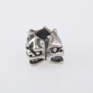 Perlas de los Tres Guardianes de Trollbeads - Plata Bruñida