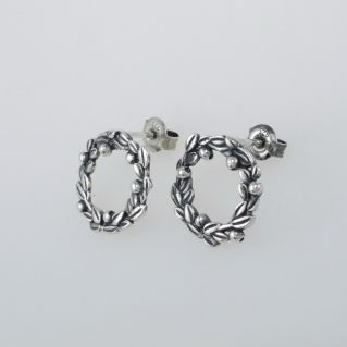 TROLLBEADS 'Blueberry Berries' Earrings - Silver