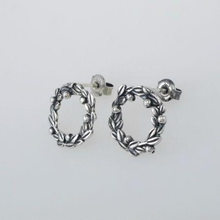 TROLLBEADS 'Blueberry Berries' Earrings - Silver