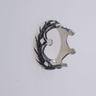 TROLLBEADS 'Corona' Ring - Silber