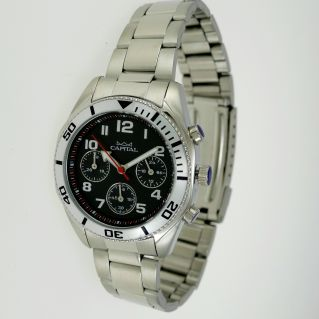 CAPITAL WATCH, Men Women - Chronograph - 50 meters water resistant