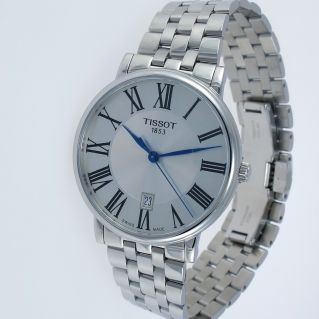 Man Watch TISSOT CARSON PREMIUM Silver Dial - Stainless Steel