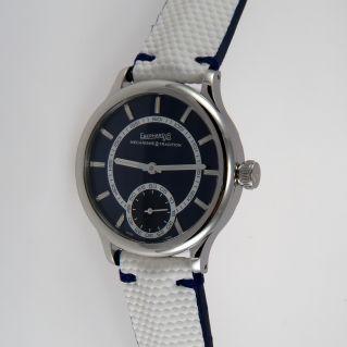 EBERHARD TRAVERSETOLO Uhr r. 21116 CP Handaufzug, technischer Gewebegürtel