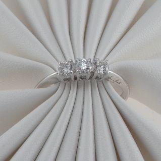 Ring Tilogy GIANNI CARITA' Diamonds Ct 0,42 G color - White Gold 18 Kt