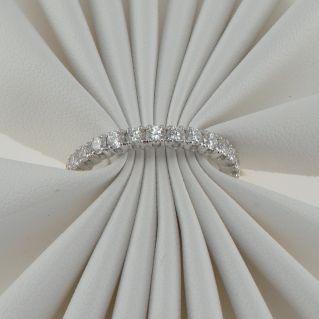 Anello GIANNI CARITA' Eternity giro dito, Diamanti Ct 1,62 G color, Oro bianco 18 Kt