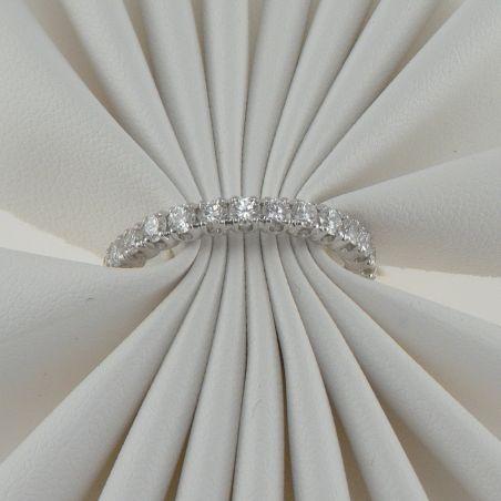 GIANNI CARITA' Eternity ring finger ring, Ct 1,62 G color diamonds, 18 Kt white gold