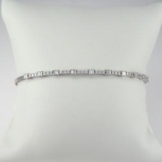 Bracciale GIANNI CARITA' Diamanti Ct 0,74 G color - Oro bianco 18 Kt