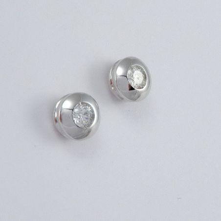 GIANNI CARITA' earrings Solitaire diamond - Light Point Ct 0,20 -G, Oro18 Kt