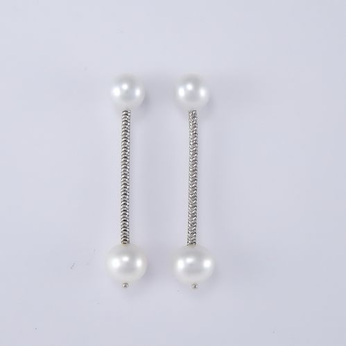 MILUNA earrings with R Pearls - 925 ‰ silver