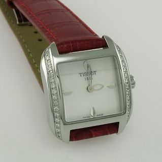 Watch TISSOT T-WAVE Woman - stell rectangular case with diamonds n° 42