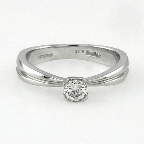 SOLITARY RING by DAMIANI - Ct 0.26 Diamond - 18 kt white gold