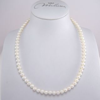 MILUNA necklace - White pearls 5,5-6 mm and firmness in 750 white gold