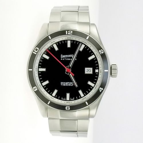 EBERHARD & CO CHAMPION V TIMEONLY Swiss automatic movement - Steel Bracelet