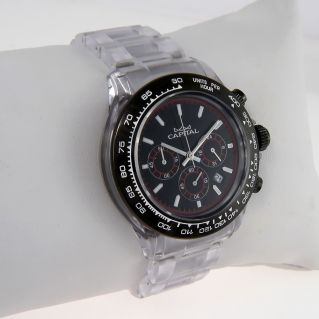 CAPITAL WATCH Quartz chronograph, Man, water res 5atm, Case and screw-down crown