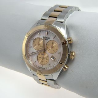 TISSOT PR 100 SPORT CHIC CHRONOGRAPH, Women's Watch, Pink mother of pearl dial
