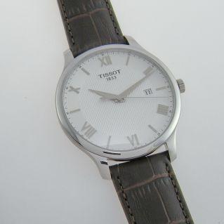 TISSOT TRADITION man watch - Quartz, silver dial, sapphire crystal