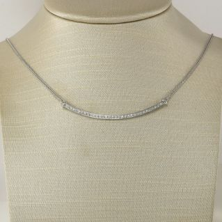 GIANNI CARITA' necklace with Ct 0.32 diamonds G color - 18 Kt white gold