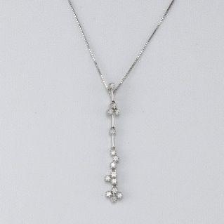 Collar GIANNI CARITA' con Diamantes Ct 0.16 - G color - Oro Blanco 18 Kt