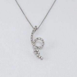 Collar MILUNA con diamantes color Pt 13,9 G color - Oro blanco 18 Kt