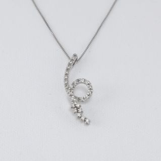 MILUNA necklace with Pt 13.9 diamonds G color- 18 Kt white gold