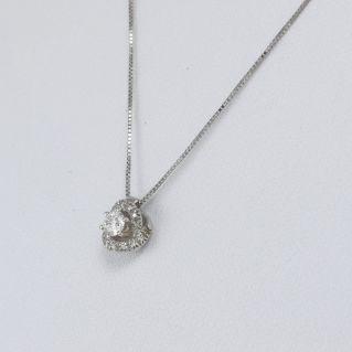 MILUNA Collar 'Infinite Love' Diamantes Ct 0,22 + 0,04 G - Oro blanco 18 Kt
