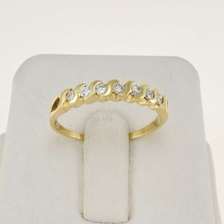 ETERNITY RING - Ct 0,27 Diamonds - H Color - 18 kt Gold - Warranty