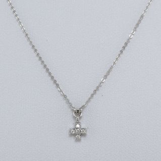 GIANNI CARITA 'Crucifix Necklace with Diamonds Ct 0.09 G, 18Kt White Gold