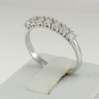 GIANNI CARITA Eternity Ring - Diamonds Ring 0.35 Ct, 18Kt White Gold