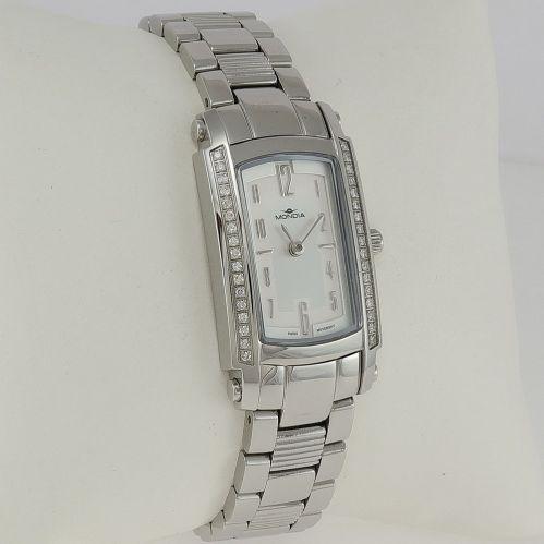 MONDIA woman watch - Case with Diamonds Ct 0.27 - Swiss quartz movement