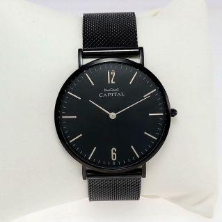 CAPITAL Men's Watch, London Collection quartz, Black PVD treated steel